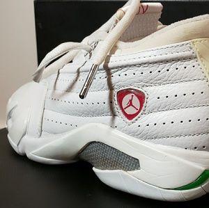 san francisco c4021 0a8a9 Air Jordan 14 (XIV) RETRO LOW WMNS WHT Size 6 ...